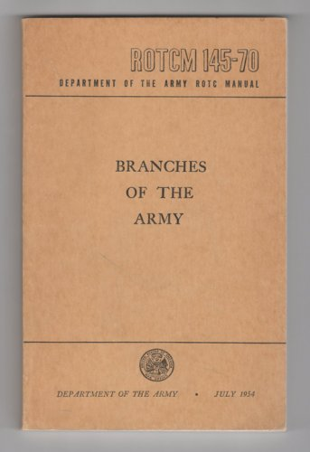 Branches Of The Army - 1954 ROTC Manual - WWI, WWII & Korean War