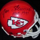 JAN STENERUD SIGNED KANSAS CITY CHIEFS MINI HELMET w/FREE SHIPPING!