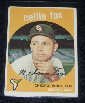 1959 TOPPS NELLIE FOX w/FREE SHIPPING
