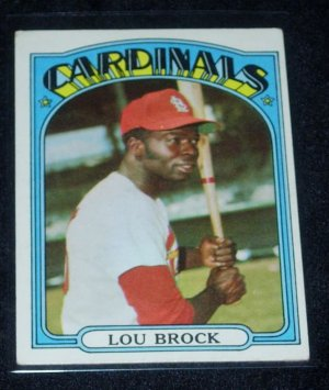 1972 TOPPS LOU BROCK w/FREE SHIPPING!