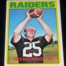 1972 TOPPS FRED BILETNIKOFF w/FREE SHIPPING!