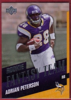 2007 UD FANTASY TEAM ADRIAN PETERSON ROOKIE w/FREE SHIPPING!