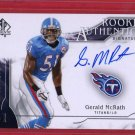 2009 SP GERALD MCRATH AUTOGRAPH 885/999 w/FREE SHIPPING!