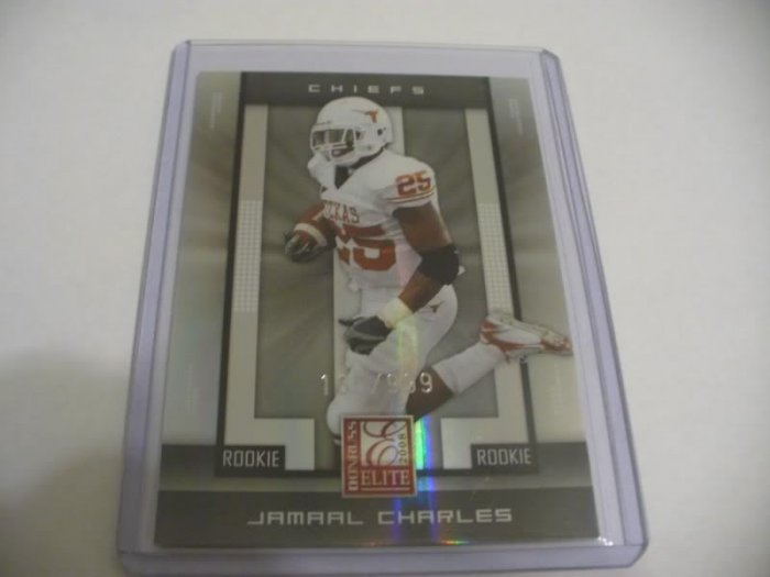 2008 DONRUSS ELITE JAMAAL CHARLES ROOKIE 165/999 w/FREE SHIPPING!