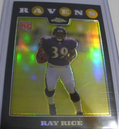 2008 TOPPS CHROME RAY RICE ROOKIE REFRACTOR w/FREE SHIPPING!