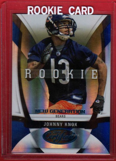 2009 CERTIFIED JOHNNY KNOX ROOKIE 060/100 w/FREE SHIPPING!