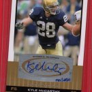 2010 SAGE HIT KYLE McCARTHY AUTOGRAPH 190/250 w/FREE SHIPPING!
