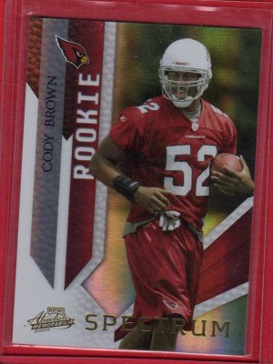 2009 PLAYOFF ABSOLUTE CODY BROWN ROOKIE 04/10 w/FREE SHIPPING!