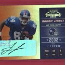 2002 Contenders Tim Carter Rookie Autograph!