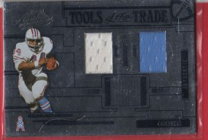 2005 Absolute Earl Cambell dual jerseys 20/50!