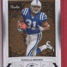 2009 Donruss Classics Donald Brown Rookie 572/999