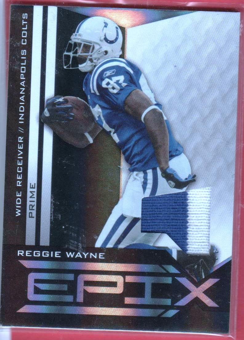 2010 Epix Reggie Wayne 2 color jersey 32/50