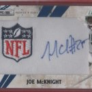 2010 Rookies & Stars Joe McKnight NFL Logo Patch/Auto 02/22