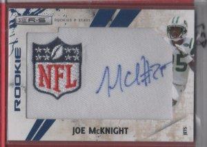 2010 Rookies & Stars Joe McKnight NFL Logo Patch/Auto 02/22