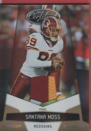 2010 Certified Santana Moss 2 Color Patch 26/50