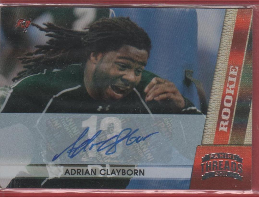 2011 Threads Adrian Clayborn Autograph 213/299