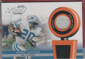 2002 Playoff Barry Sanders GU Jersey