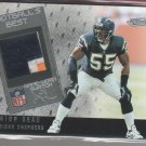 2002 Fleer Showcase Junior Seau 3 Color Patch