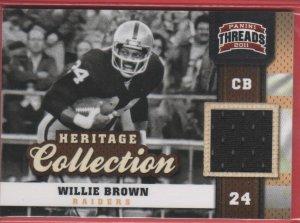2011 Threads Willie Brown GU Jersey