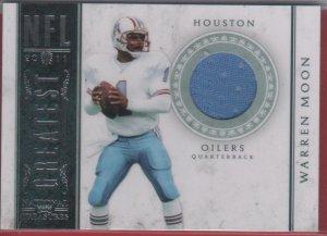 2011 National Treasures NFL Greatest Warren Moon GU Jersey 98/99