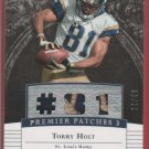 2007 UD Premier Torry Holt 2 Color Patches 23/99