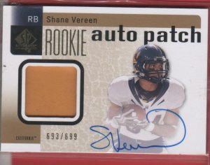 2011 SP Authentic Shane Vereen Auto Patch 693/699