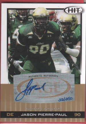 2010 Sage Jason Pierre-Paul Autograph 32/250