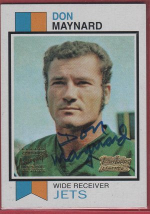 2001 Topps Legends Don Maynard Autograph