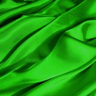"1 Yards of Satin Fabric 65"" W Apple Green Just $4.99 /Yard"