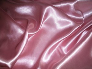 "1 Yards of Bridal Satin Fabric 60"" W Rose Color Just $3.99 /Yard"