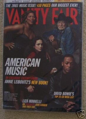 VANITY FAIR 2003 MUSIC ISSUE MINELLI ANDY WARHOL SEALED
