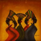 "New Hand-Made 20x24"" 'African Women' Oil Painting on Canvas"