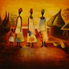 "New Hand-Made 20x24"" '3 African Women' Oil Painting on Canvas"