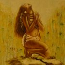 """New Hand-Made 20x24"""" 'Praying Woman' Oil Painting on Canvas"""