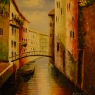 "New Hand-Made 20x24"" Venice Canal Oil Painting on Canvas"