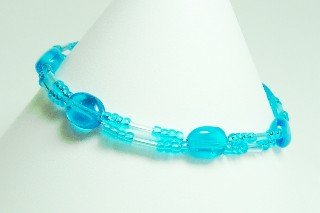 turquoise glass bracelet