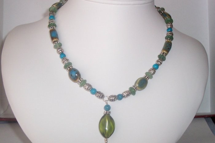 Turquoise Focal Necklace