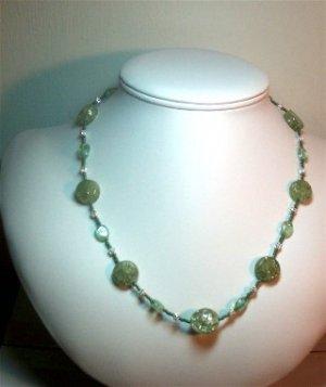 Kiwi Glass Necklace