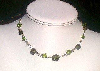 Kiwi Twisted Strands Necklace