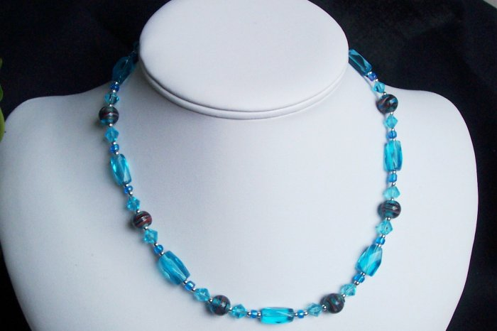 Turquoise Glass Necklace