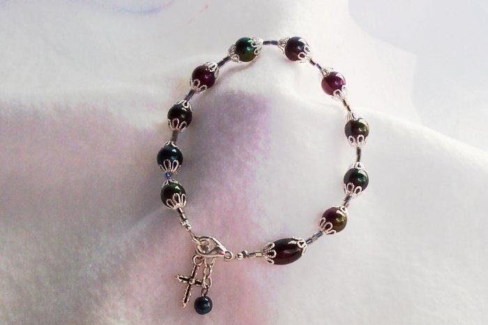 Multi-Rainbow Rosary Bracelet