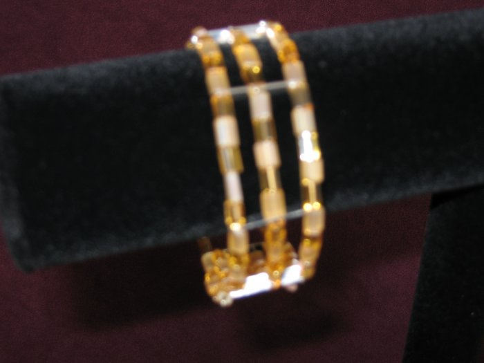 "Gold ""Pillow-shaped"" Cuff Bracelet"