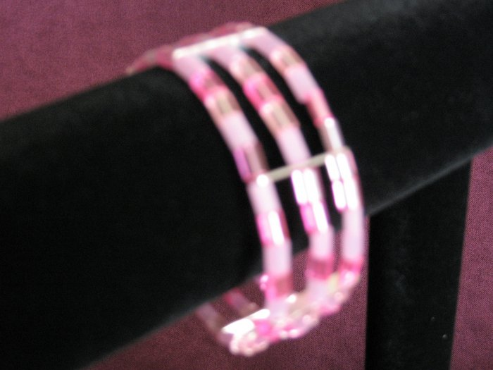 "Pink ""Pillow-shaped"" Bracelet"