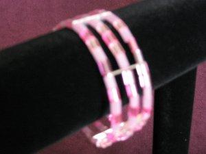 "Pink ""Pillow-shaped"" Bracelet"