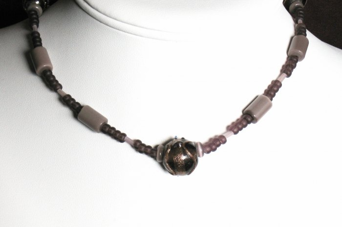 Purple Focal Bead Necklace