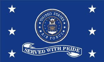 Air Force Served With Pride Flag