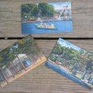 Set of 3 Vintage Linen Postcards