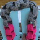 Hot pink and Gray Chain Link Scarf