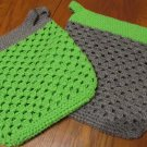 Set of 2 OOAK Crochet Shopping Bags