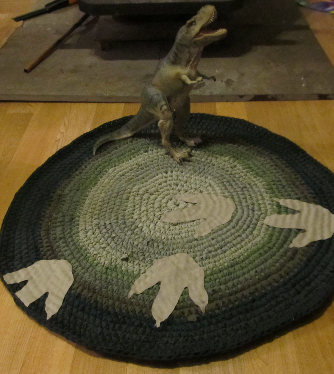 Walking With Dinosaurs Crochet T-shirt Rug